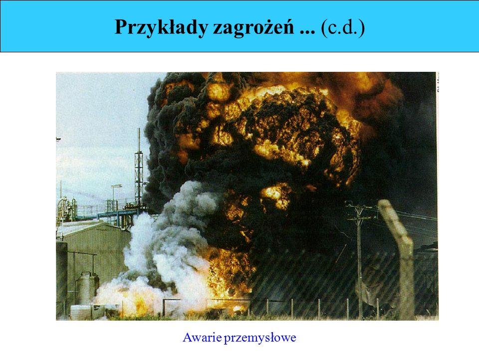 Przykłady zagrożeń... (c.d.) Awarie przemysłowe