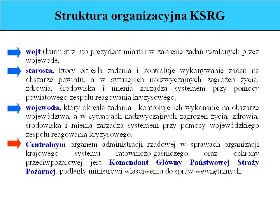Struktura organizacyjna KSRG