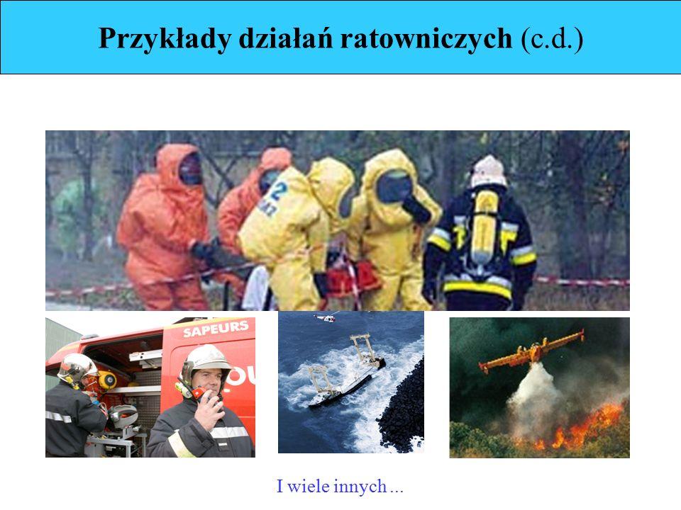 Przykłady działań ratowniczych (c.d.) I wiele innych...