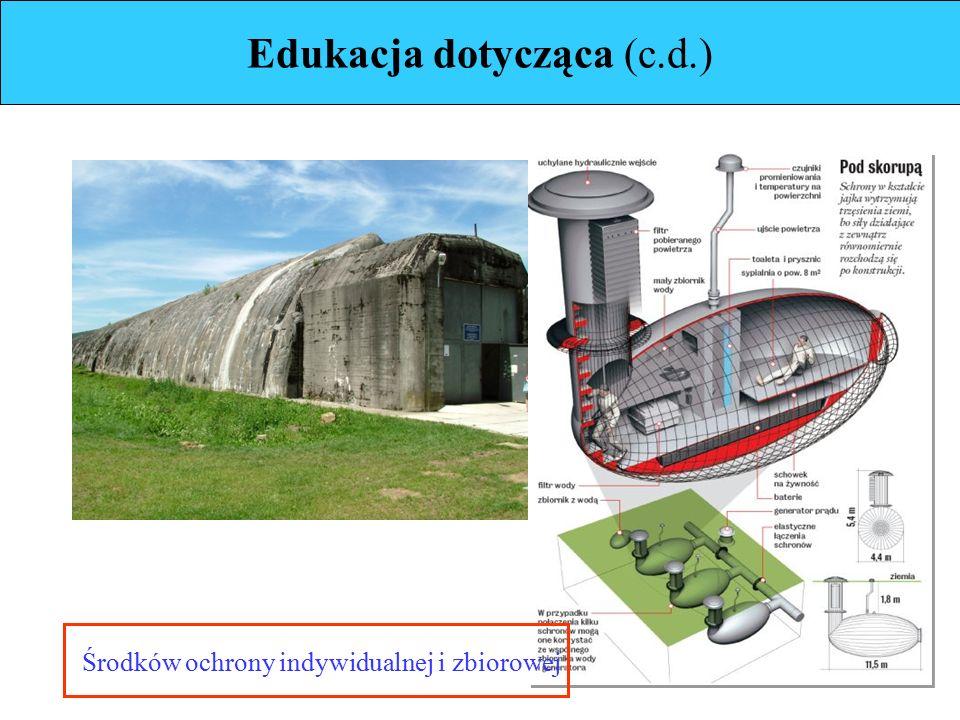 Edukacja dotycząca (c.d.) Środków ochrony indywidualnej i zbiorowej