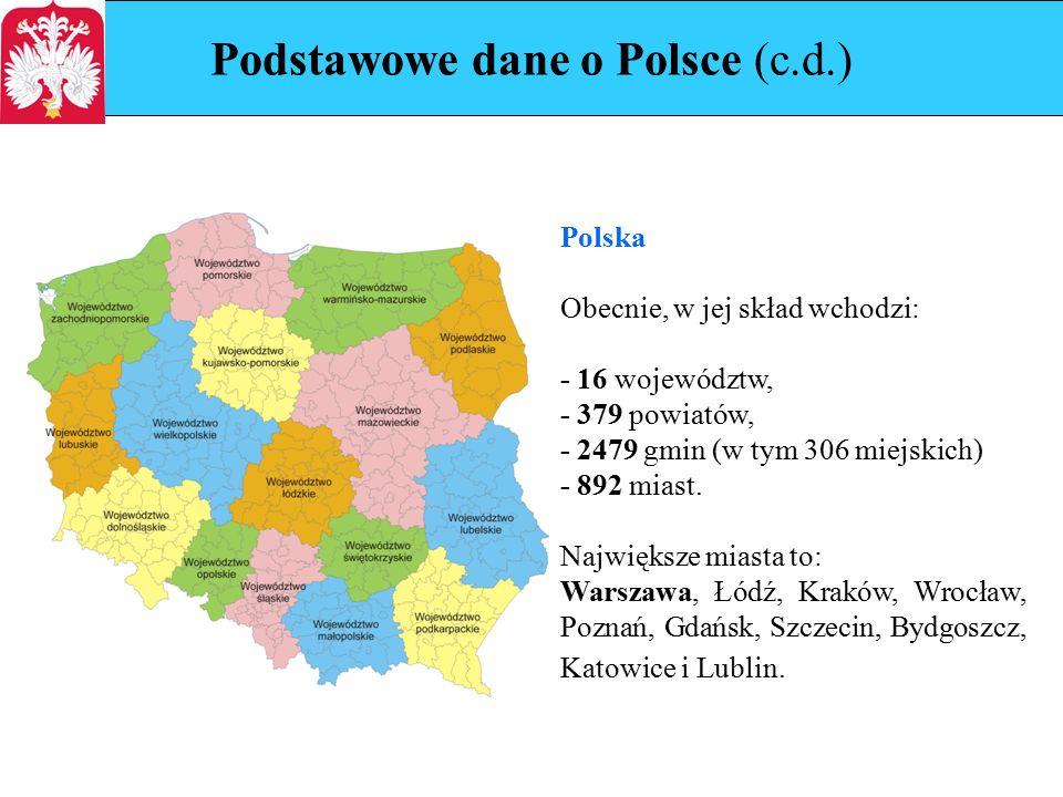 Podstawowe dane o Polsce (c.d.) 1.dolnośląskie, 2.