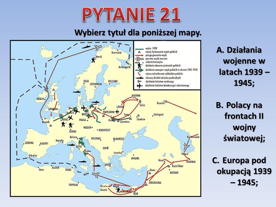 Co było największą trudnością dla polskich pilotów przybywających do Anglii po 1939 roku? A.słabe wyszkolenie; B.brak znajomości języka; C.klimat;