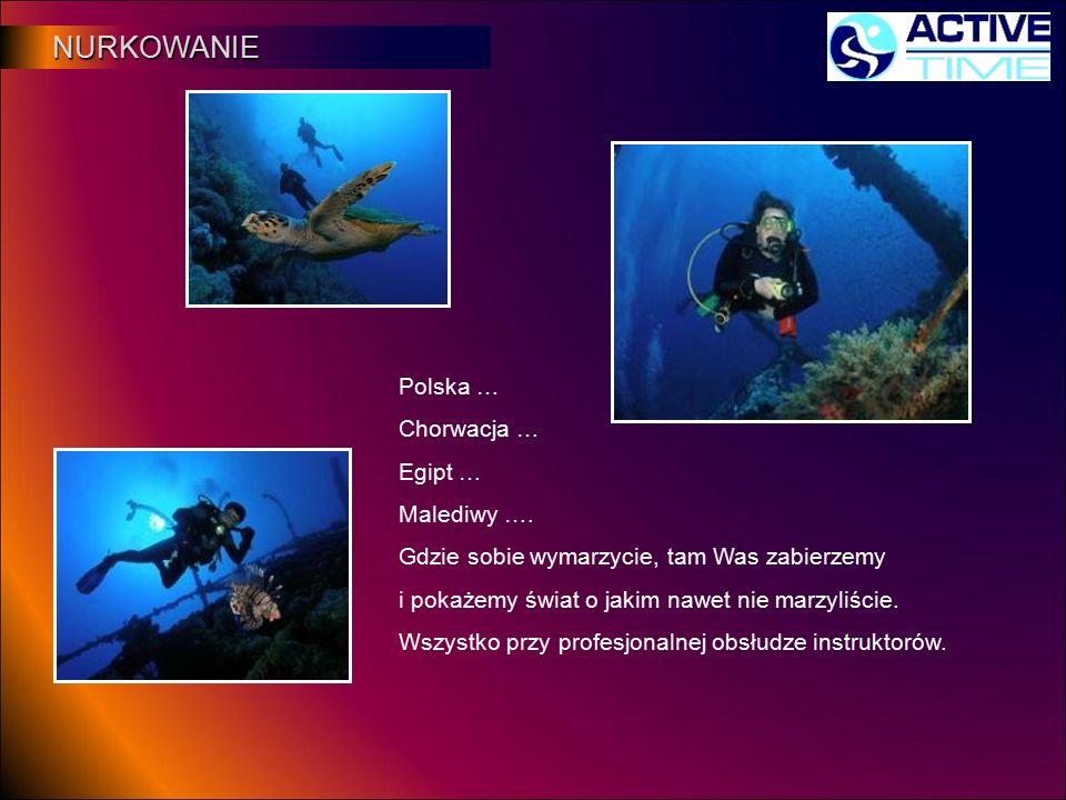 NURKOWANIE NURKOWANIE Polska … Chorwacja … Egipt … Malediwy …. Gdzie sobie wymarzycie, tam Was zabierzemy i pokażemy świat o jakim nawet nie marzyliśc
