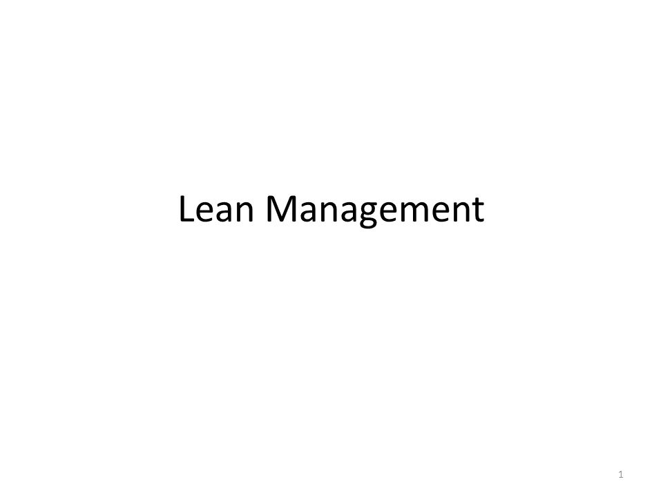 Lean Management 1