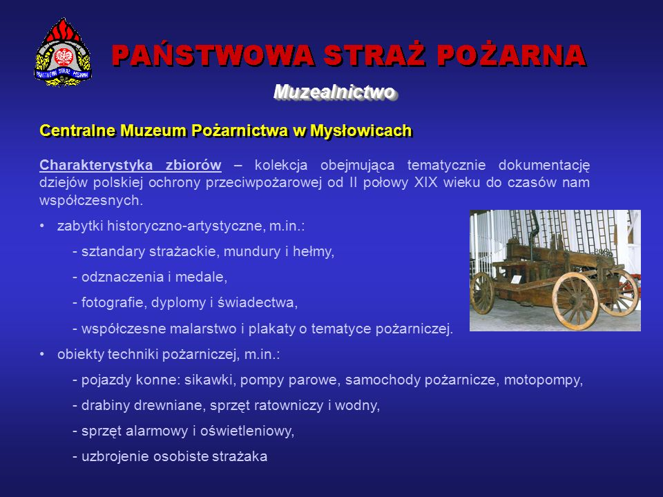 Centralne Muzeum Pożarnictwa w Mysłowicach 14 września 1975 r.
