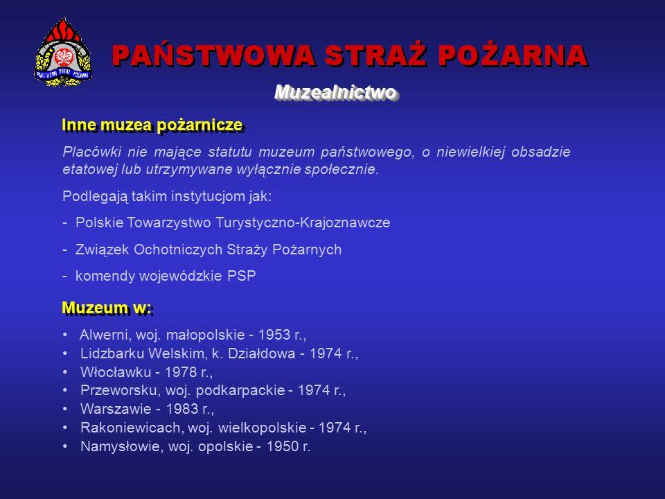 Centralne Muzeum Pożarnictwa w Mysłowicach Wystawiennictwo: ekspozycje stałe wystawy czasowe Wydawnictwa m.in.
