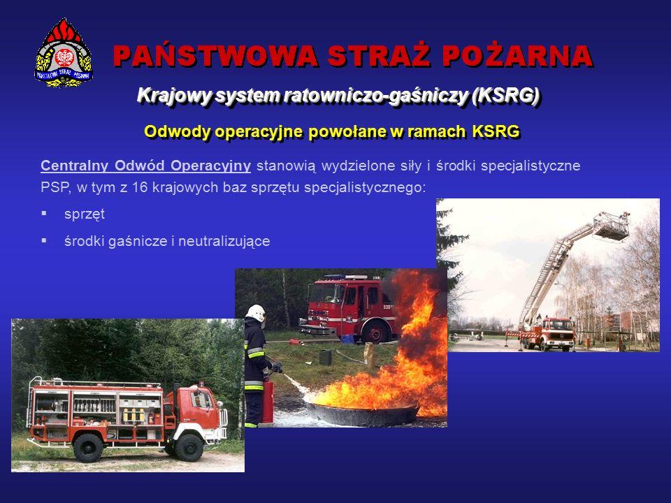 Odwody operacyjne powołane w ramach KSRG Zadania – prowadzenie działań ratowniczych, których charakter i rozmiary przekraczają możliwości potencjału ratowniczego powiatu lub województwa.