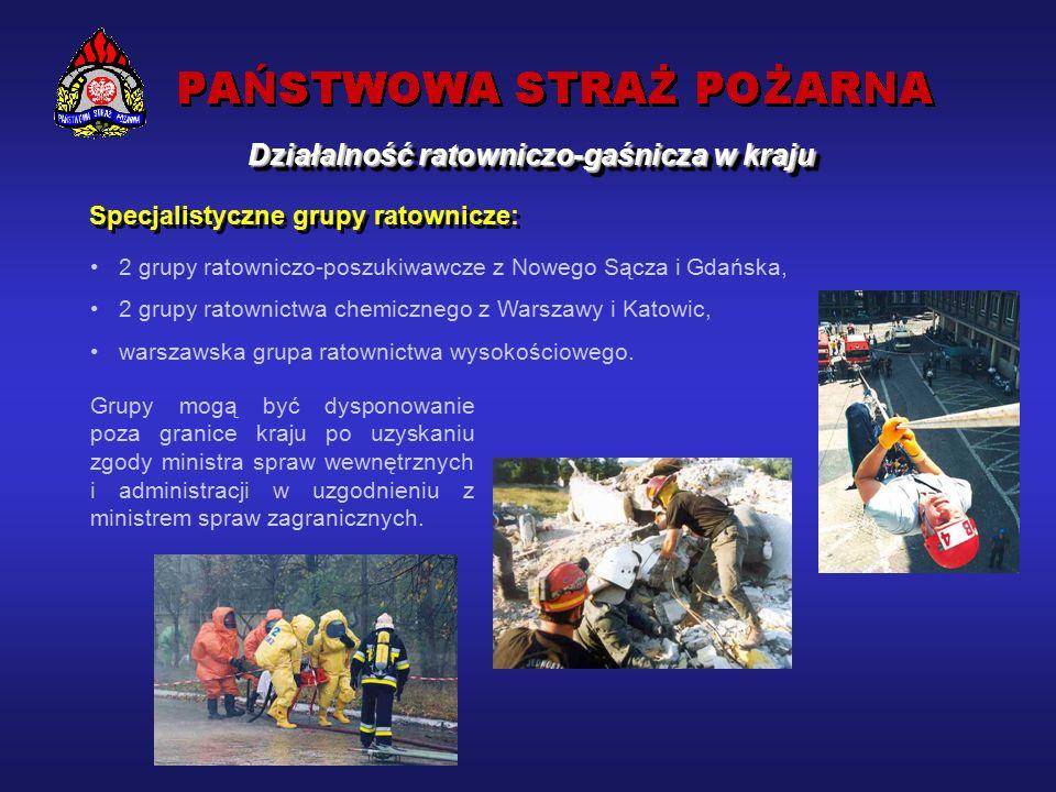 Działalność ratowniczo-gaśnicza w kraju Liczba interwencji przeprowadzonych przez jednostki ochrony przeciwpożarowej w latach 1993-2002