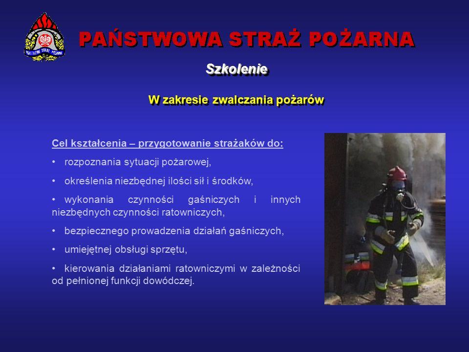 SzkolenieSzkolenie Kształcenie kadr dla potrzeb Państwowej Straży Pożarnej oraz jednostek ochrony przeciwpożarowej, stanowi jedno z podstawowych zadań nałożonych przez ustawodawcę na PSP.