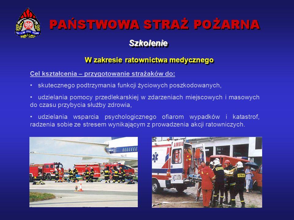 SzkolenieSzkolenie W zakresie ratownictwa technicznego Cel kształcenia – przygotowanie strażaków do: rozpoznania sytuacji na miejscu zdarzenia, określenia niezbędnej ilości sił i środków, wykonywania czynności ratowniczych, umiejętności bezpiecznego prowadzenia działań, obsługi sprzętu: hydraulicznego, pneumatycznego tnącego, burzącego, oświetleniowego, kierowania działaniami ratowniczymi w zależności od pełnionej funkcji dowódczej, usuwania skutków awarii i katastrof infrastruktury technicznej, budowlanej, transportowej z wykorzystaniem sprzętu specjalistycznego.