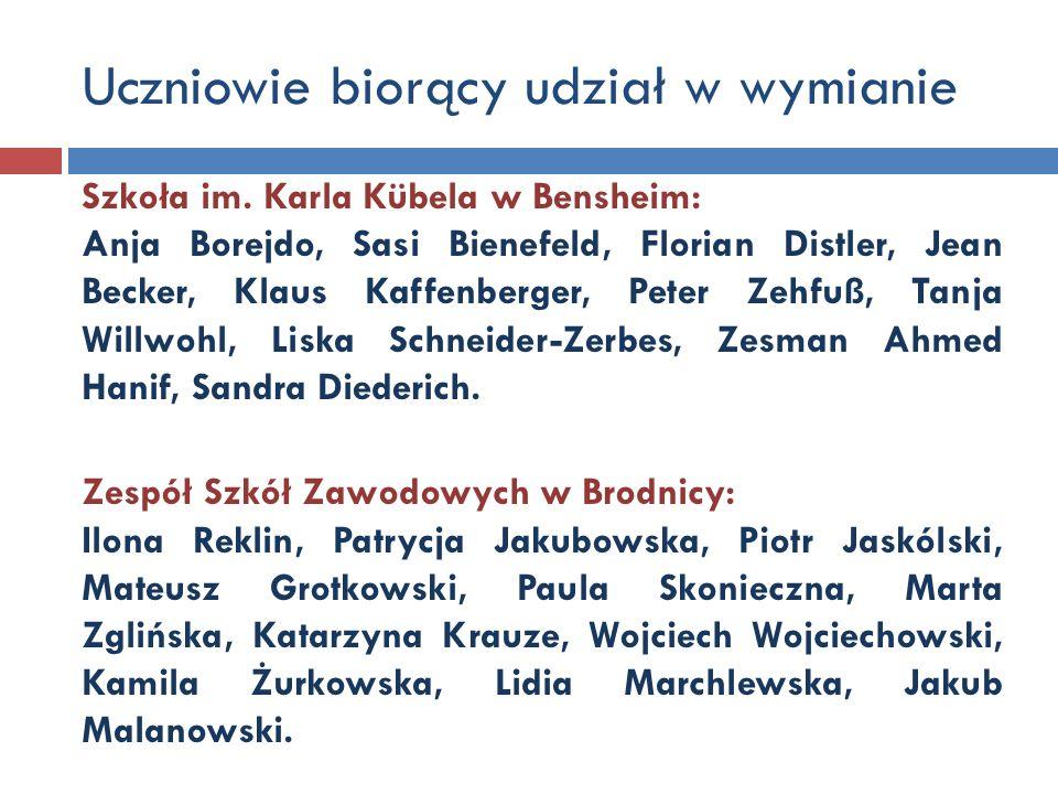 Nauczyciele zaangażowani w projekt Szkoła im.