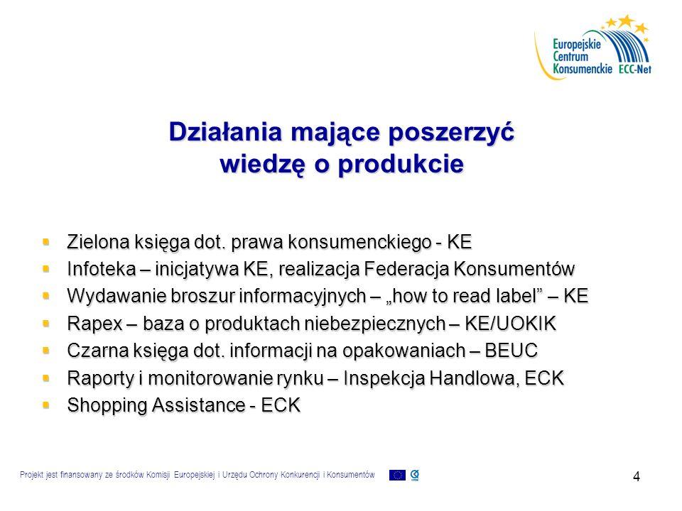 """Projekt jest finansowany ze środków Komisji Europejskiej i Urzędu Ochrony Konkurencji i Konsumentów 5 Każdy konsument jest inny…  Info musi """"dotrzeć do określonego konsumenta  Powinna być podana w przystępnej formie (ustnie, Internet)  Przedstawiona w języku obcym znanym klientowi (orz."""