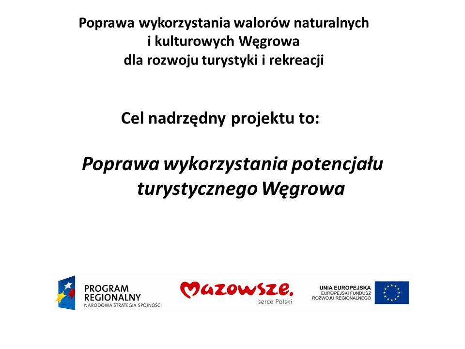 Poprawa wykorzystania walorów naturalnych i kulturowych Węgrowa dla rozwoju turystyki i rekreacji Cel nadrzędny projektu to: Poprawa wykorzystania potencjału turystycznego Węgrowa