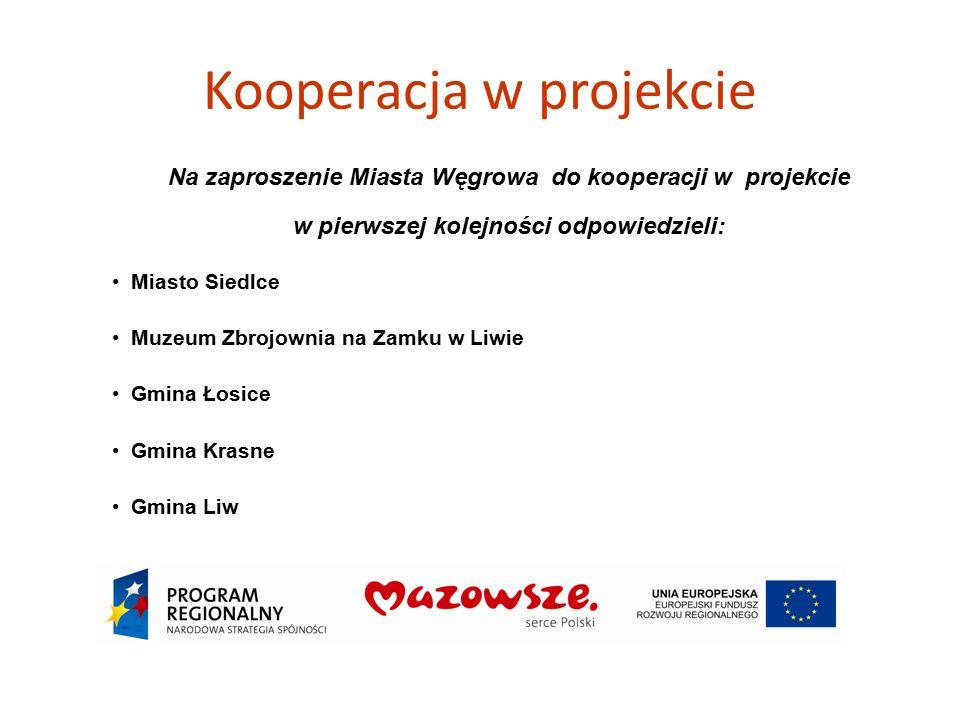 Kooperacja w projekcie Na zaproszenie Miasta Węgrowa do kooperacji w projekcie w pierwszej kolejności odpowiedzieli: Miasto Siedlce Muzeum Zbrojownia