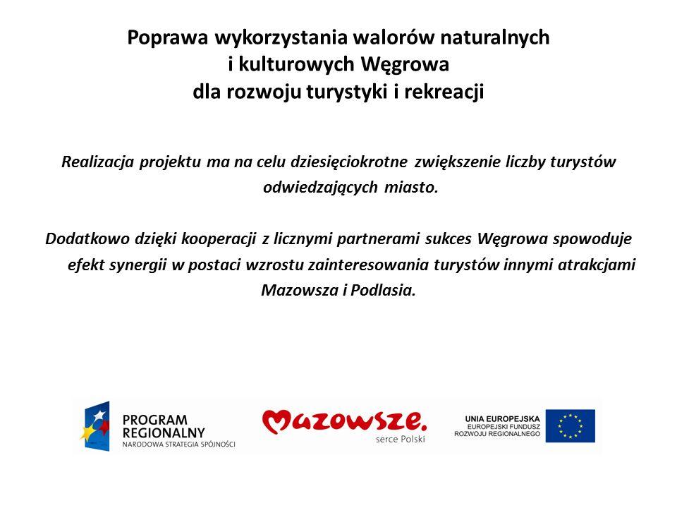 Poprawa wykorzystania walorów naturalnych i kulturowych Węgrowa dla rozwoju turystyki i rekreacji Realizacja projektu ma na celu dziesięciokrotne zwię