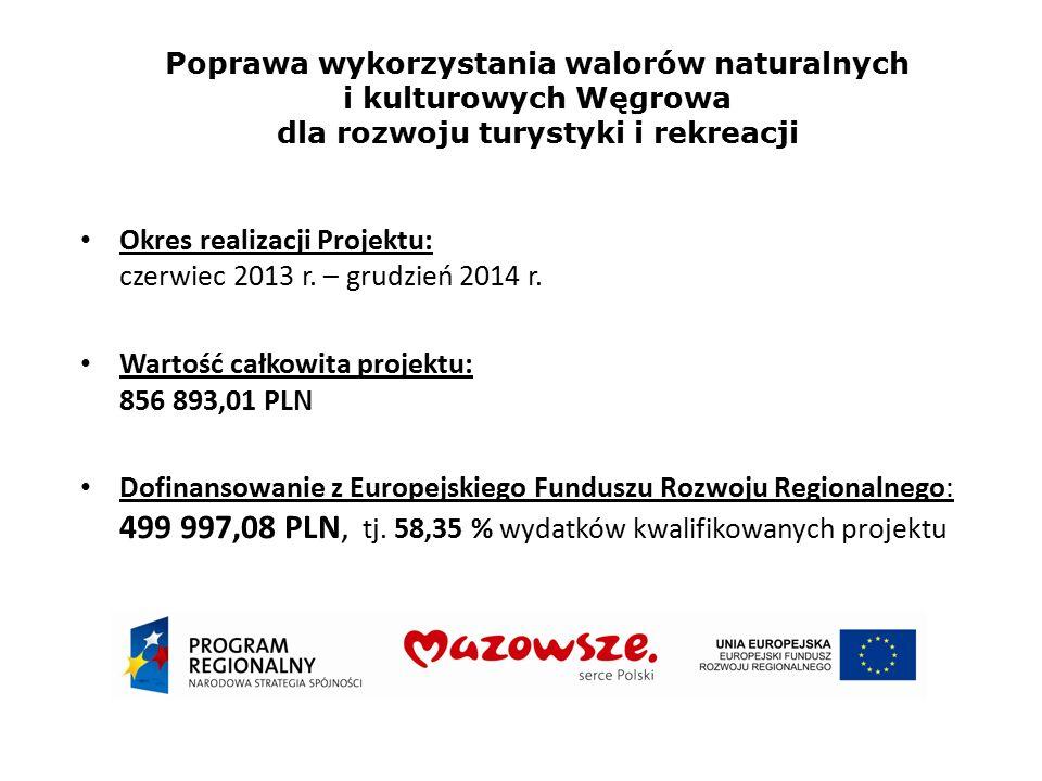 Okres realizacji Projektu: czerwiec 2013 r. – grudzień 2014 r. Wartość całkowita projektu: 856 893,01 PLN Dofinansowanie z Europejskiego Funduszu Rozw