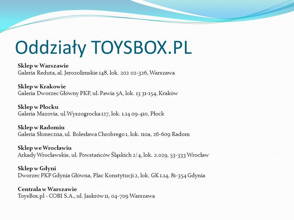 Oddziały TOYSBOX.PL Sklep w Warszawie Galeria Reduta, al.