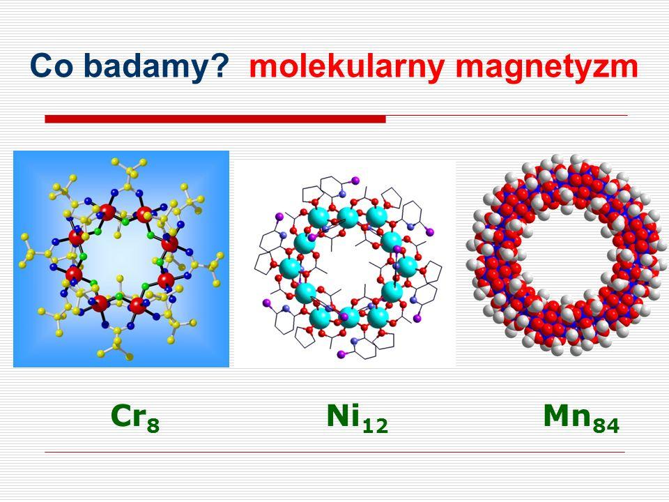 Co badamy? molekularny magnetyzm Cr 8 Ni 12 Mn 84
