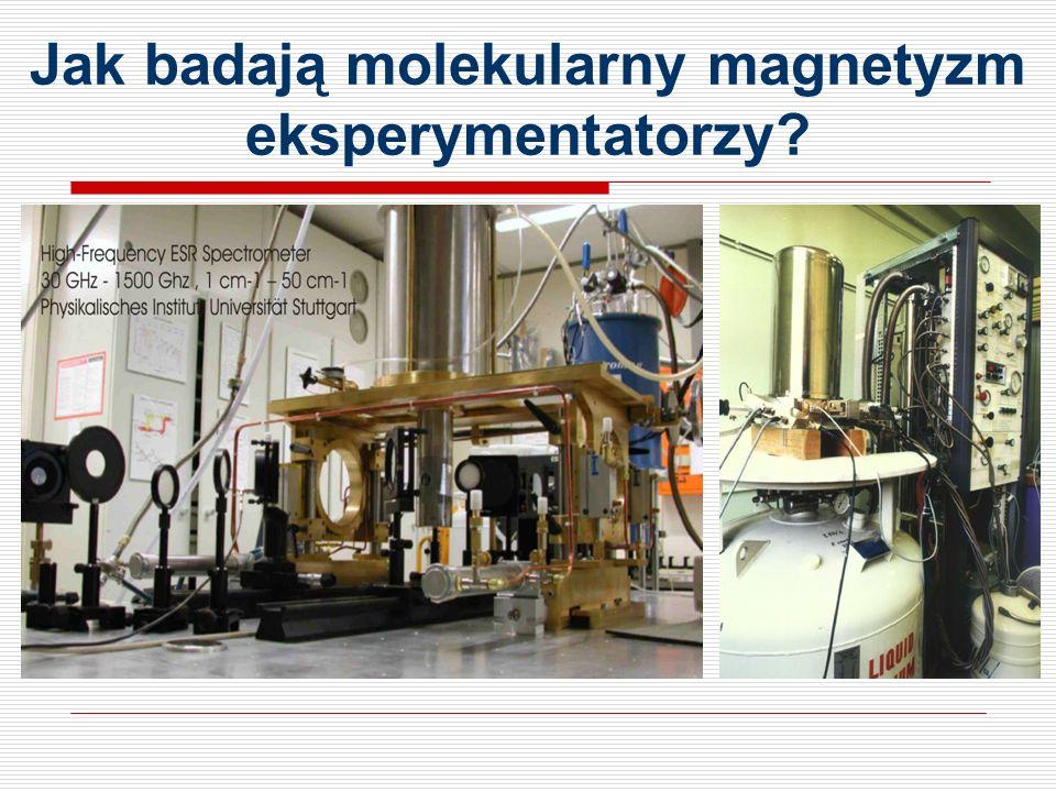Jak badają molekularny magnetyzm eksperymentatorzy