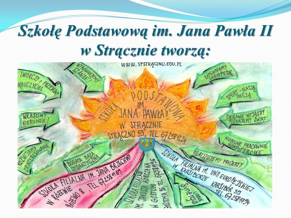 Szkołę Podstawową im. Jana Pawła II w Strącznie tworzą: