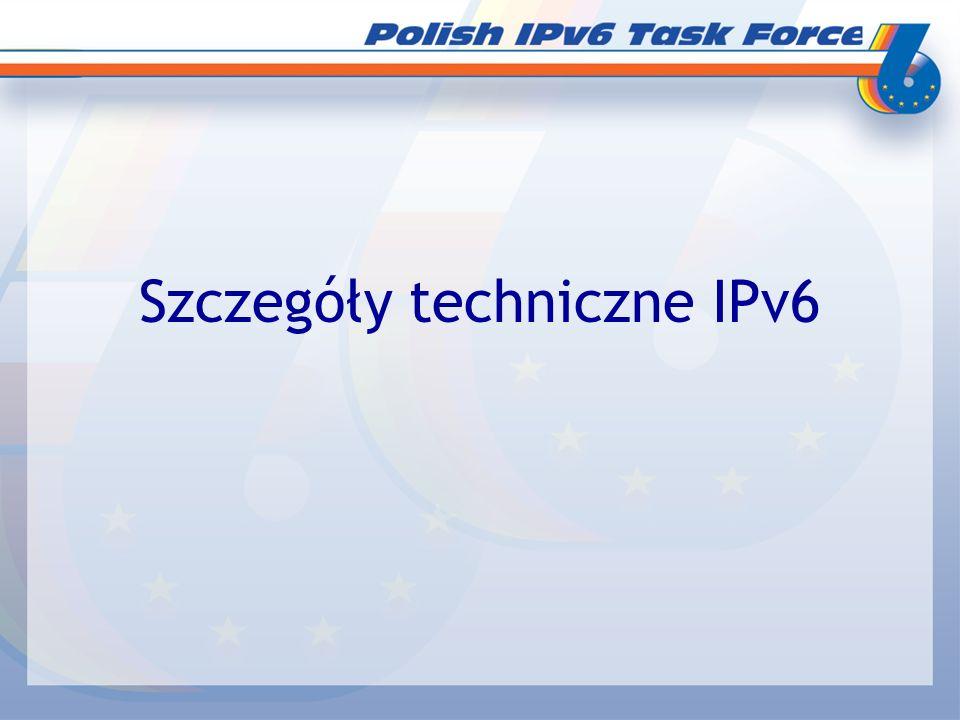 Szczegóły techniczne IPv6