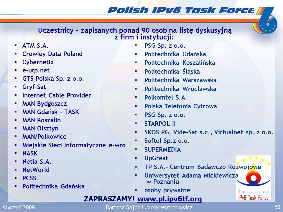 styczeń 2009Bartosz Gajda i Jacek Wytrebowicz 56  ATM S.A.