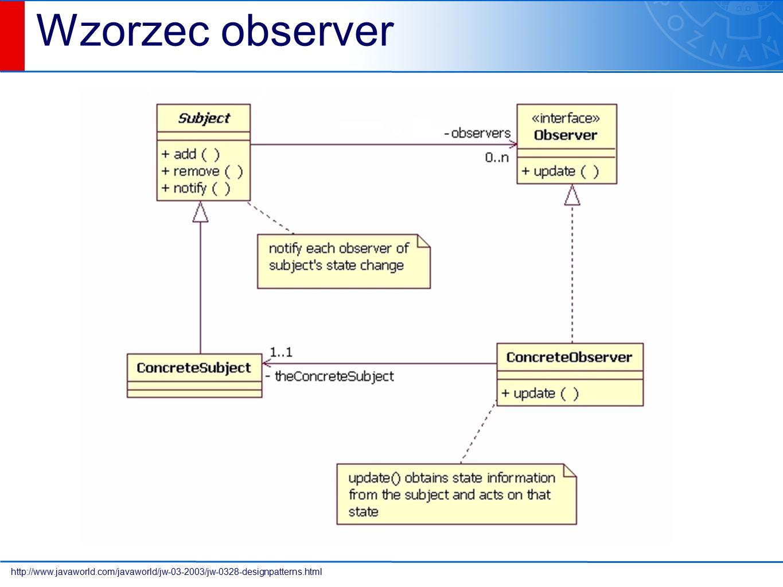 Wzorzec observer http://www.javaworld.com/javaworld/jw-03-2003/jw-0328-designpatterns.html