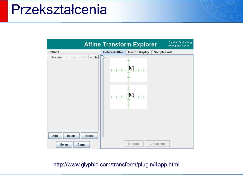 Przekształcenia http://www.glyphic.com/transform/plugin/4app.html