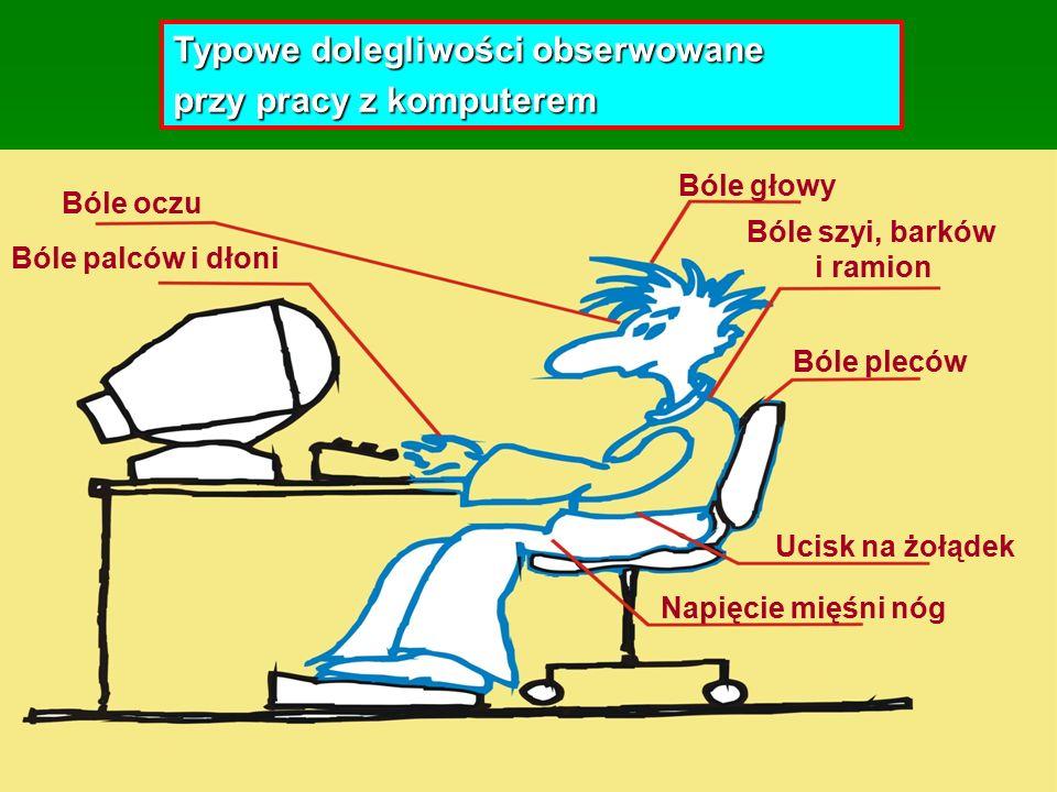 43 Co jest przyczyną kłopotów zdrowotnych ludzi pracujących na siedząco.
