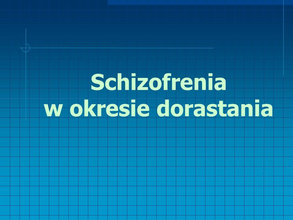 Schizofrenia w okresie dorastania
