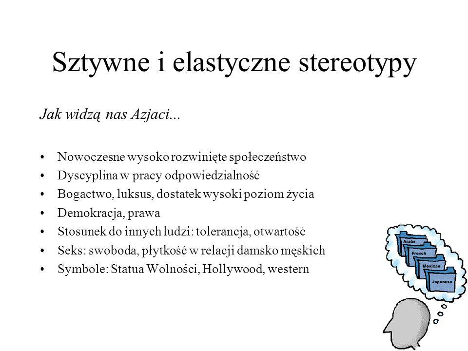 Sztywne i elastyczne stereotypy Jak widzą nas Azjaci...