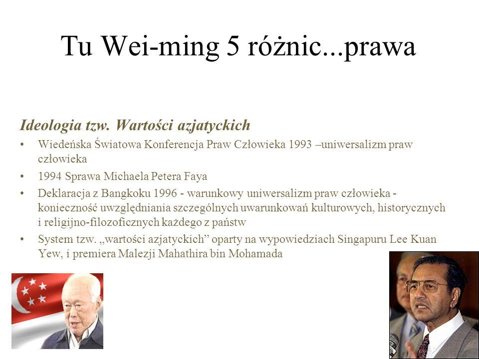 Tu Wei-ming 5 różnic...prawa Ideologia tzw.