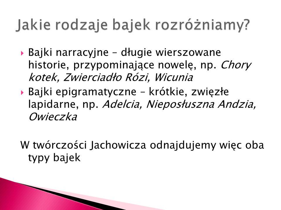  Jachowicz lubuje się w zdaniach długich, wieloczłonowych, które dość luźno są ze sobą powiązane, np.