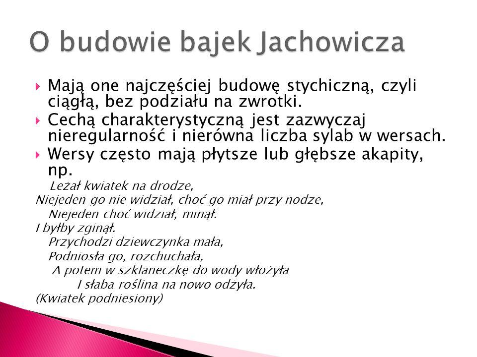 Metafory Jachowicz stosuje rzadko.