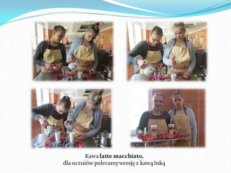 Kawa latte macchiato, dla uczniów polecamy wersję z kawą Inką