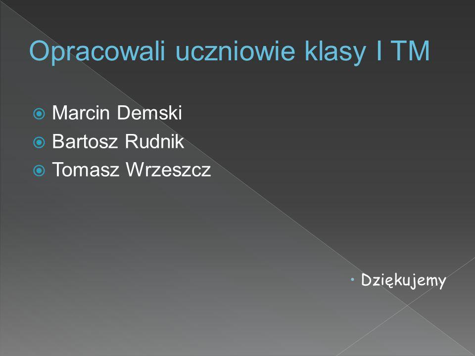  Marcin Demski  Bartosz Rudnik  Tomasz Wrzeszcz  Dziękujemy