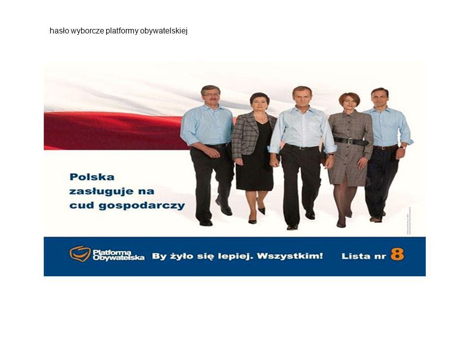 hasło wyborcze platformy obywatelskiej