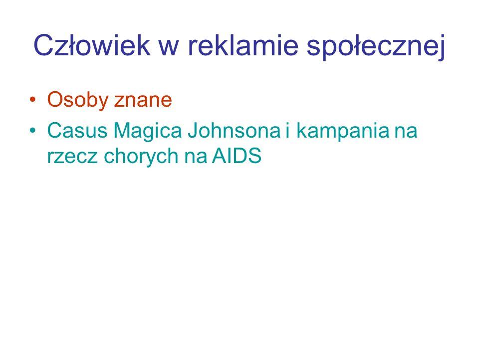 Człowiek w reklamie społecznej Osoby znane Casus Magica Johnsona i kampania na rzecz chorych na AIDS