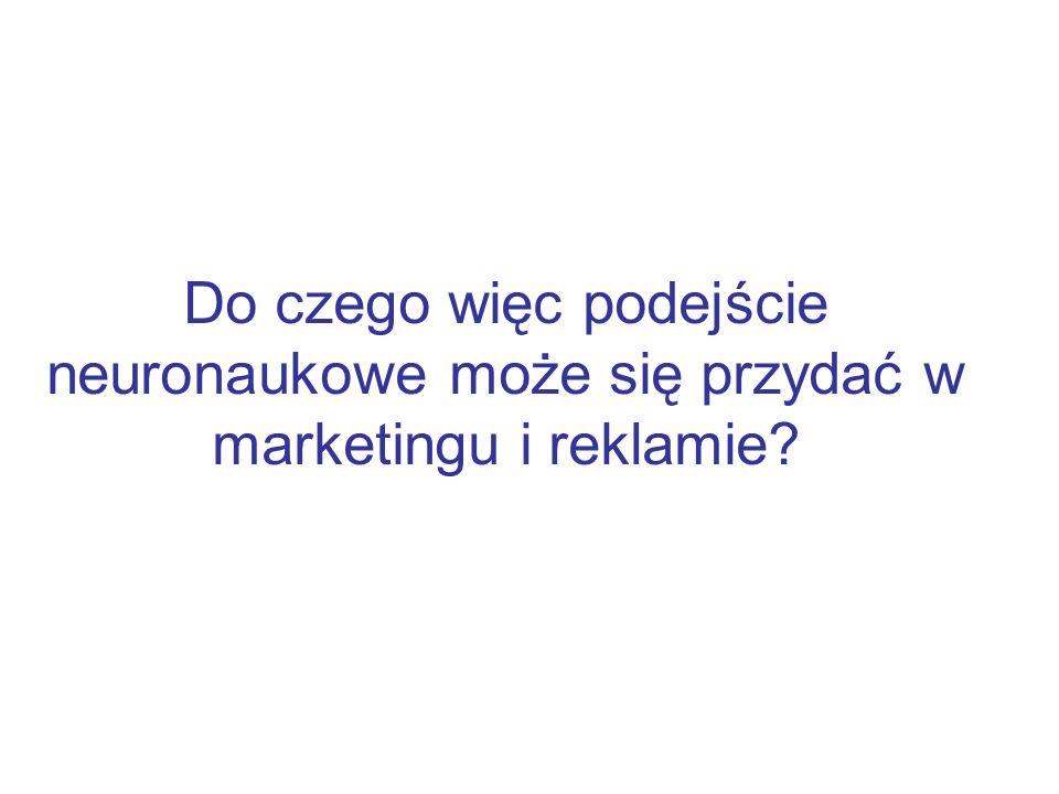Do czego więc podejście neuronaukowe może się przydać w marketingu i reklamie?