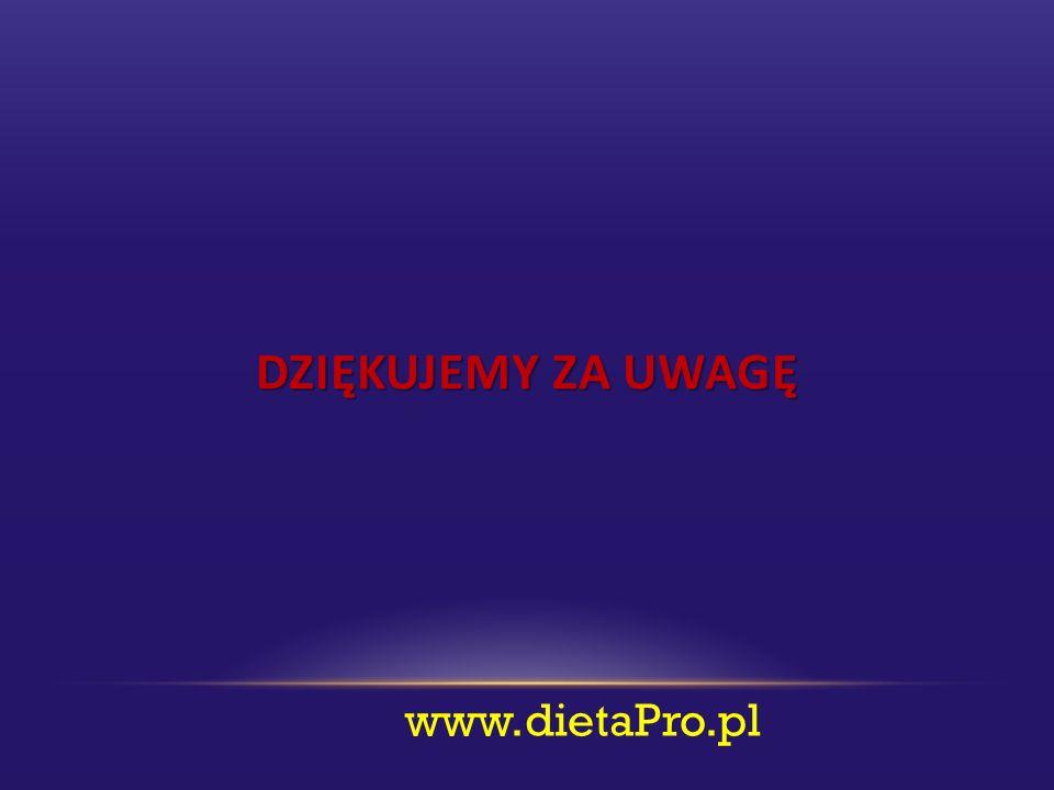 DZIĘKUJEMY ZA UWAGĘ www.dietaPro.pl