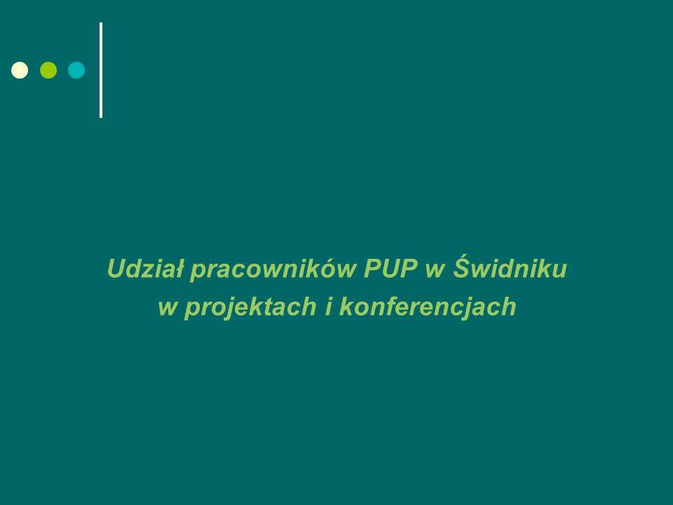 Udział pracowników PUP w Świdniku w projektach i konferencjach