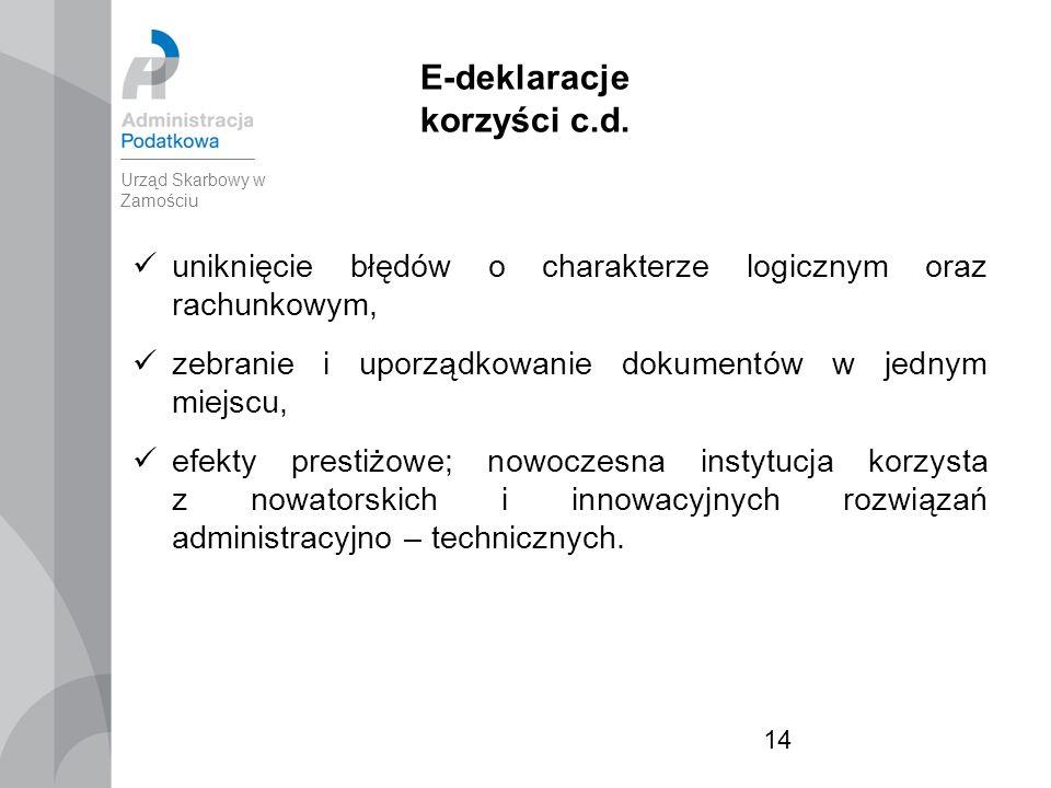 14 E-deklaracje korzyści c.d.
