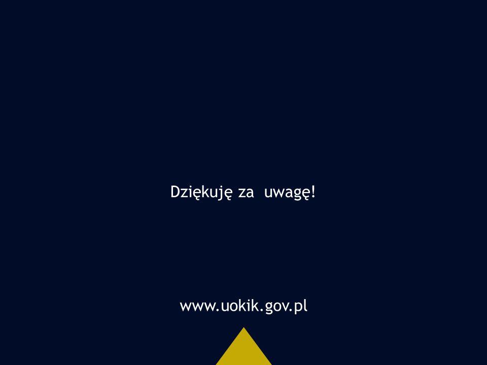 www.uokik.gov.pl Dziękuję za uwagę!
