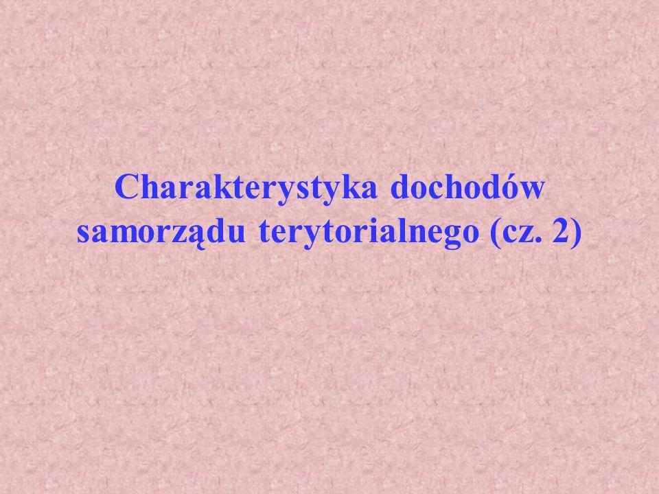 Charakterystyka dochodów samorządu terytorialnego (cz. 2)