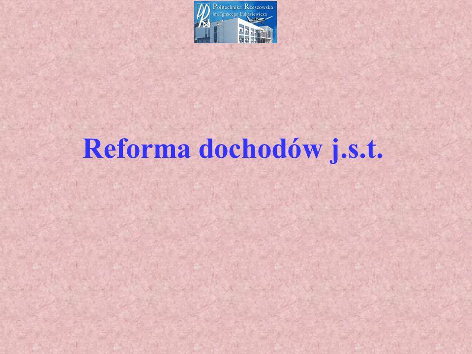 Reforma dochodów j.s.t.