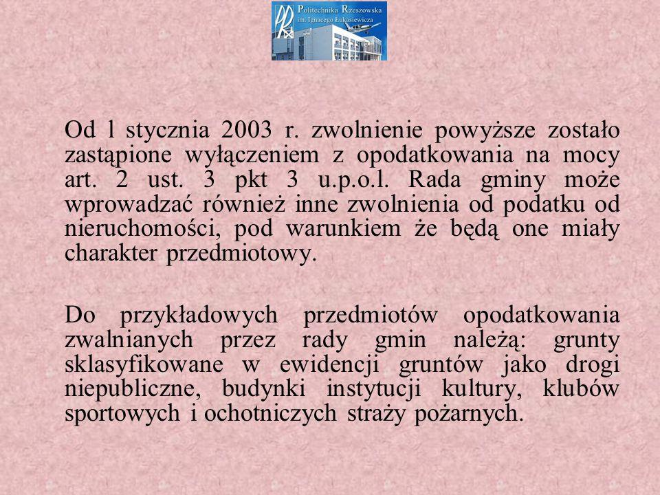 Od l stycznia 2003 r.