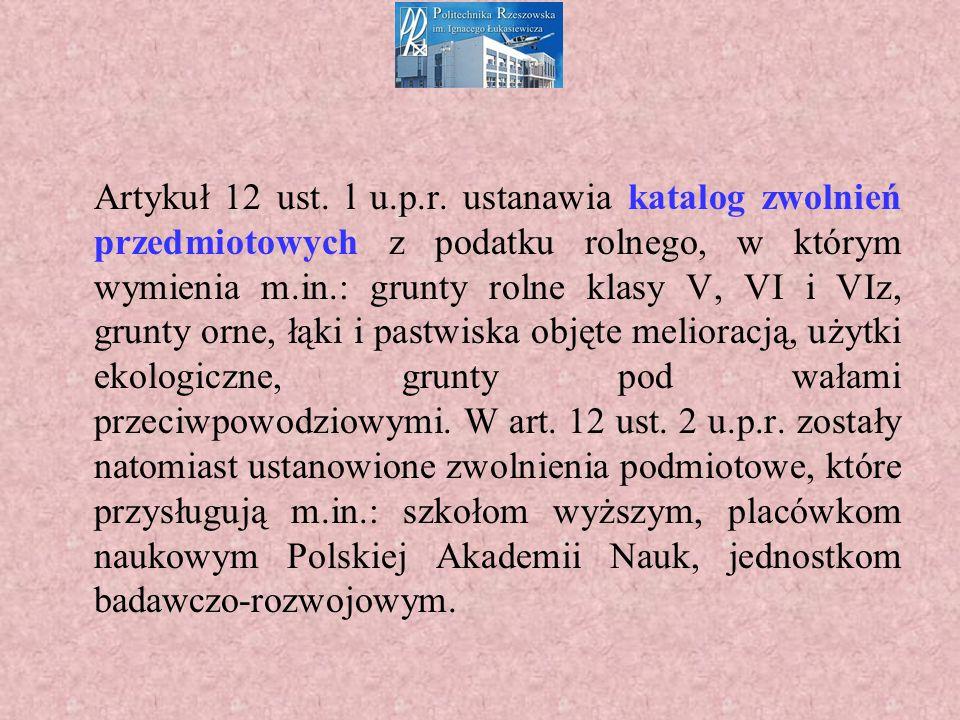 Artykuł 12 ust. l u.p.r.