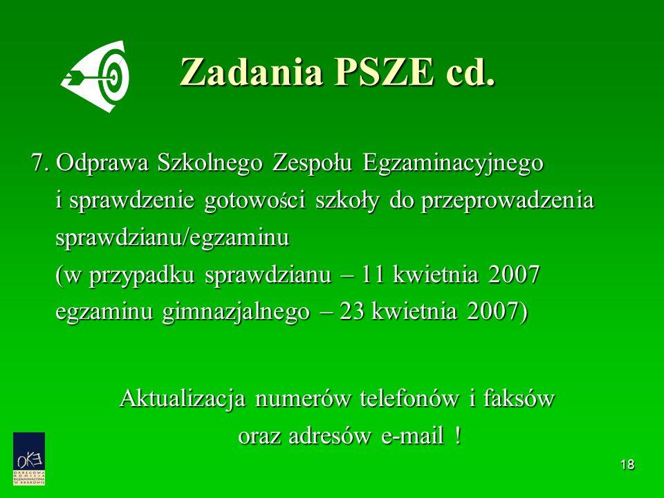18 Zadania PSZE cd.7.