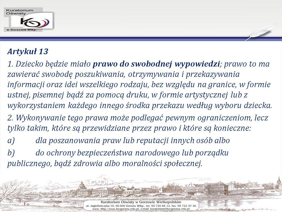 Artykuł 13 1.