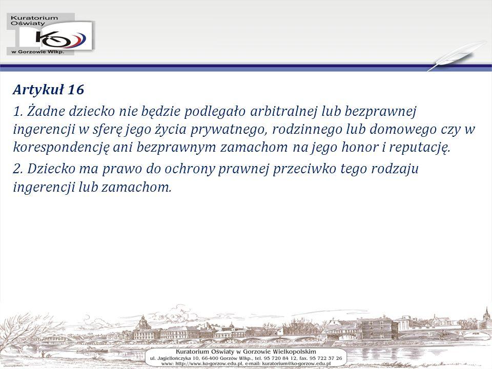 Artykuł 16 1.